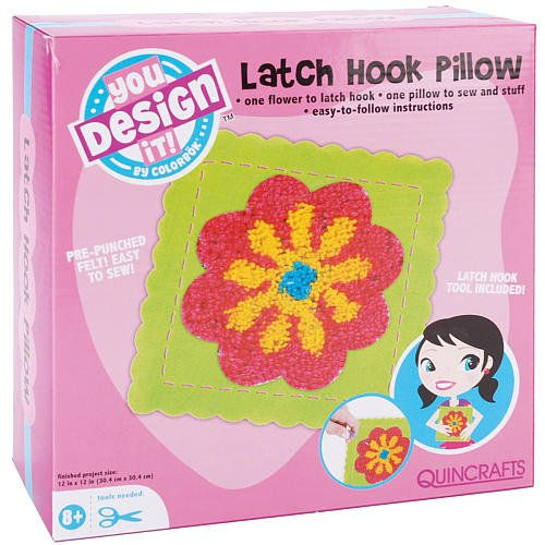Colorbok You Design It Latch Hook Pillow Kit