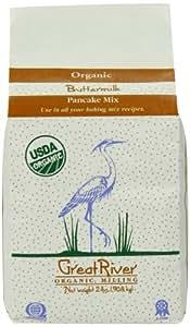 Great River Organic Milling Organic Buttermilk Pancake Mix, 2 Pound Bags (Pack of 4)