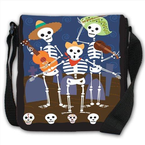 mexican-dia-de-los-muertos-day-of-the-dead-skeletons-small-black-canvas-shoulder-bag-handbag
