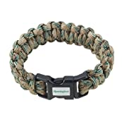 Remington Paracord Survival Bracelet (Multi Color/Tan) - 8