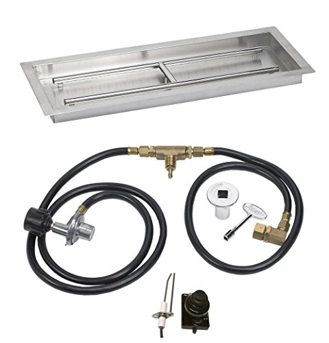 Stainless Steel Drop In 30 Inch X 10 Fire Pit Ignition Kit