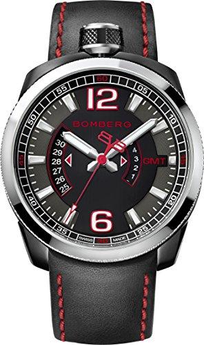 Bomberg BS45GMTSP.004.3 Bolt-68 collection Watch - Swiss Made - 45 mm - Convertible pocket watch