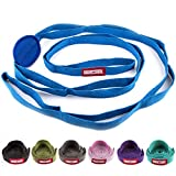 Peace Yoga® Durable 7ft Cotton Yoga Stretching Exercise Strap Band with Multiple Grip Loops - Choose Your Color