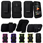 For Samsung Galaxy Rush M830 Cellularvilla 3pc Hard and Soft Black Kickstand Case with Holster Clip. This Case Is Only for the Samsung Galaxy Rush M830 (Black)