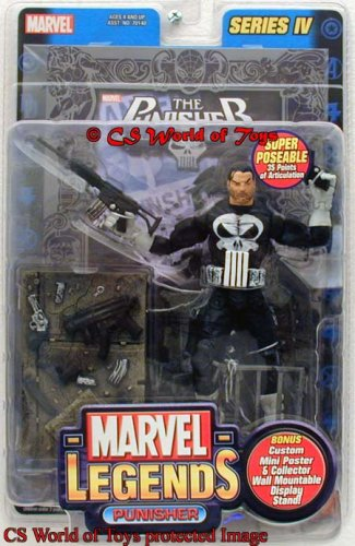 Marvel Legends Punisher Variant Silver Foil Poster Series IV (Custom Marvel Legends compare prices)