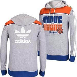 New York Knicks Adidas NBA Originals Light Weight Hooded Sweatshirt S by adidas