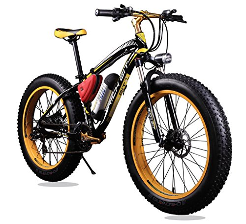 New-Updated-21-Gears-Yellow-Black-TP12-36v-X-350-Watt-Lithium-Battery-Electric-Mountain-Bicycle-Shimano-Snow-Bike-Electric-Bike-Fat-Bike