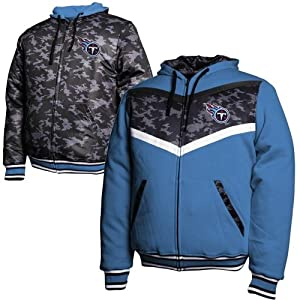 Tennessee Titans Black Ops Reversible Full Zip Hoodie - Light Blue Black Camo by NFL Shop
