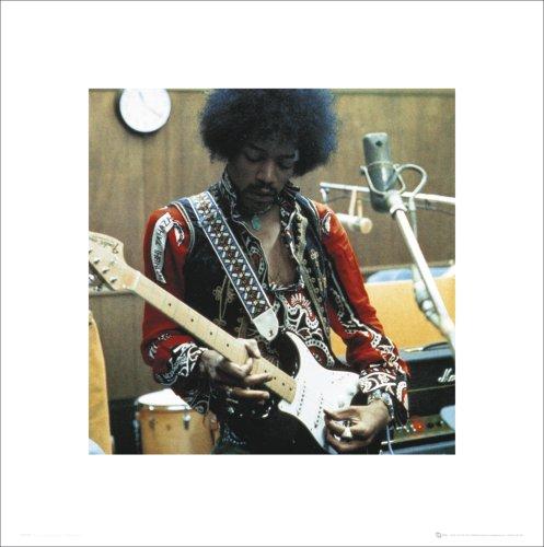 "GB Eye Ltd SC 0086 Poster ""Jimi Hendrix Studio"" 40 x 40 cm"