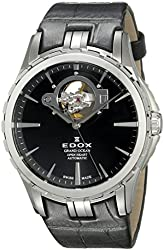 Edox Men's 85008 3 NIN Grand Ocean Analog Display Swiss Automatic Black Watch