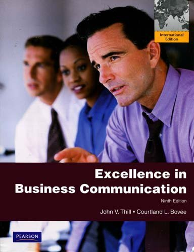 excellence in business communication Business communication books for college, university students, academic purposes book, training cd, audio material, workbooks.