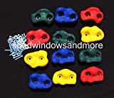 Textured Rock Holds Multi Color Set of 12 W/hardware Rock Pegs Rock Holds Climbing Rock Wall