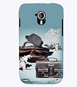 PrintVisa Cool Boy 3D Hard Polycarbonate Designer Back Case Cover for Micromax Canvas HD A116