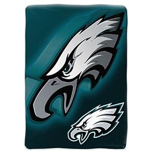 NFL Philadelphia Eagles 60-Inch-by-80-Inch Micro Raschel Blanket, Bevel Design by Northwest