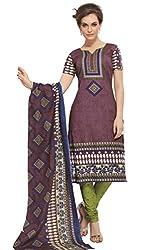 Gugaliya Women's 100 % Cotton UNSTICHED Salwar, Kameez & Dupatta Suit (SJ- 3110)
