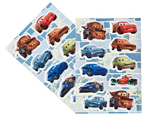 Disney Cars Sticker Sheets, Puffy, 2 Count,  Party Supplies - 1