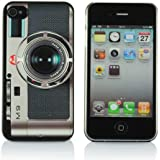 Funny Retro Leica M9 Style Hard Frosted Back Case Cover for Iphone 4/4s