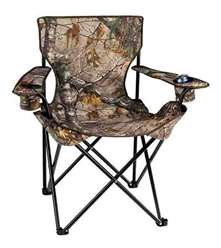 Big Camo Camp Chair With Zippered Carry Bag And Shoulder