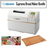 Zojirushi BB-CEC20 Home Bakery Supreme Breadmaker Bundle