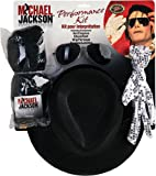 Rubie's - I-5340 - Déguisement - Kit Mickaël Jackson - Une Perruque + Une Paire de Lunettes + Un Chapeau et Un Gant