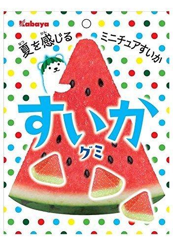 Kabaya WATERMELON Miniature Suika Gummy 50g x 10 bags from Japan