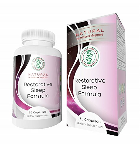 RESTORATIVE SLEEP FORMULA: Special Proprietary Blend of Herbs Magnesium and Melatonin for Natural Sound Sleep and Waking Up Alert - Pharmaceutical Grade No Additives or Fillers Satisfaction Guaranteed (The Sylvie Cycle compare prices)