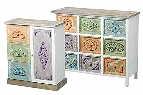 Chest of Drawers 'Bologna' 70 cm Multicoloured