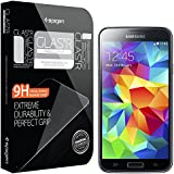 Galaxy S5 Screen Protector, Spigen� Samsung Galaxy S5 Screen Protector Glass [GLAS.tR NANO SLIM] (0.23mm) Thin Lightweight Rounded Edge Tempered Glass Screen Protector Clear for Galaxy S5 / Galaxy SV / Galaxy S V (2014) - GLAS.tR NANO SLIM (SGP10727)