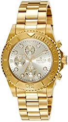 Invicta Men's 1774  Pro-Diver Collection 18k Gold Ion-Plated Stainless Steel Watch