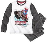 Pijama largo para niño, diseño de Spider-man, color blanco y gris, de 4 a 10 años gris gris