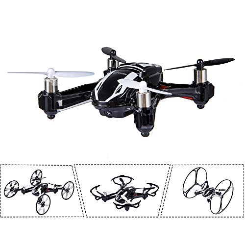 DBPOWER Hawkeye-I Quadcopter 3D Flip 2.4GHz Transformable RC Drone/Car with 2MP HD...