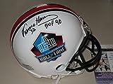 Franco Harris Pittsburgh Steelers Autographed Signed Hall of Fame HOF Mini Helmet w JSA COA