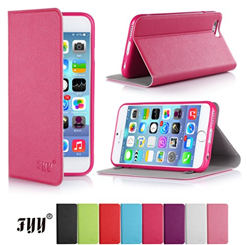 Iphone 6 Plus Case Cover, Fyy® Ultra Slim Smart Cover Case For Iphone 6 Plus (5.5 Inch Screen) Magenta