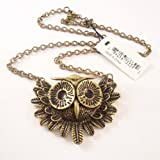 Vintage Owl Necklace Long Pattern Necklace Coat Chain, Gift Idea