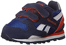 Reebok Gl 3000 TD Classic Shoe (Infant/Toddler), Team Dark Royal/Navy/Energy Orange/Steel/White, 2 M US Infant