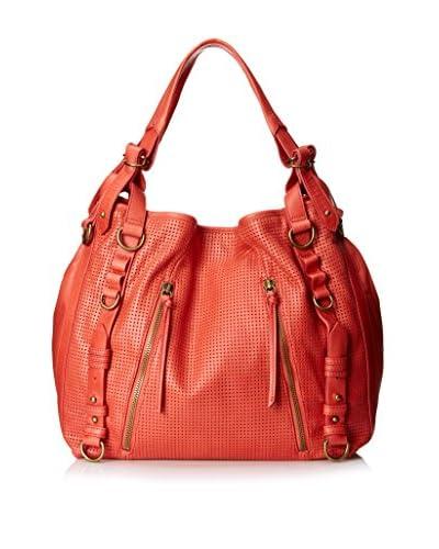 Joelle Hawkens Women's Erin Perforated Hobo Bag, Pepper
