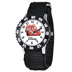 Disney Kids' W000082 Cars Stainless Steel Time Teacher Watch