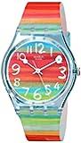 Swatch Women's GS124 Quartz Rainbow Dial Plastic Watch