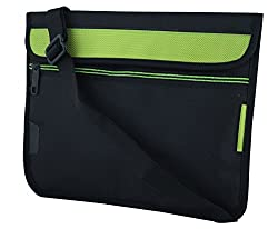 Saco Stylish Soft Durable Pouch for Acer Aspire Switch 10 SW5-012-152L Laptop(NT.L4SSI.002) with shoulder strap (Green)