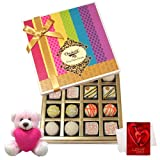 Executive Favorite Treat Of White Truffles Box With Teddy And Love Card - Chocholik Belgium Chocolates
