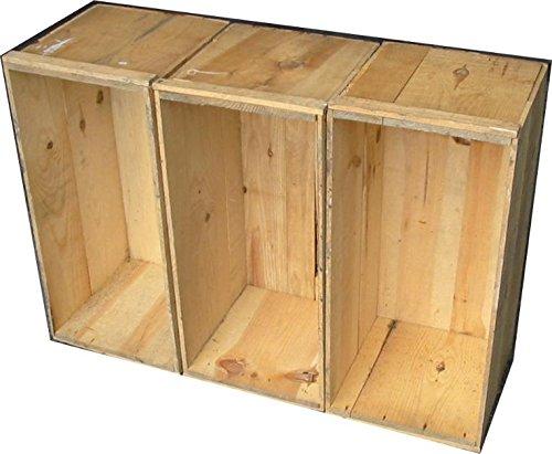 りんご木箱 中古 64×31×31 道具箱、保管箱に・・・ノーブランド品