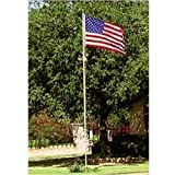 Valley Forge Flag 3-Feet by 5-Feet Nylon US Flag Kit with 20-Foot Aluminum In-Ground Pole and Hardware