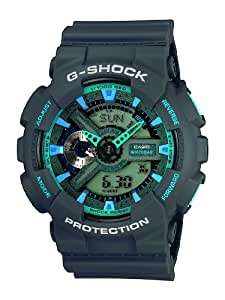 Casio Herren-Armbanduhr XL G-Shock Analog - Digital Quarz Resin GA-110TS-8A2ER