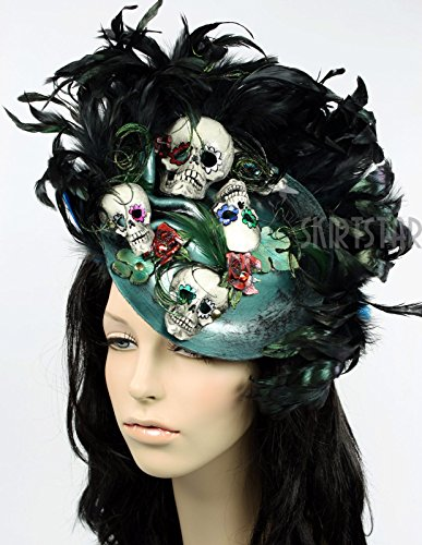 Women's Day of the Dead Dia de los Muertos Fascinator