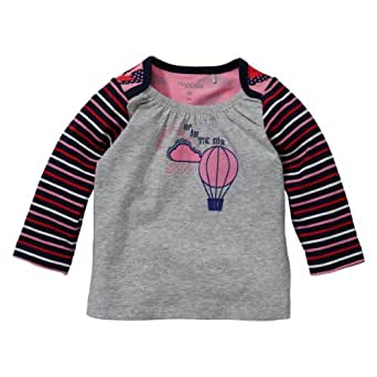 Noppies Baby - Mädchen Shirt 24628-Tee Batgirl, Gr. 50, Grau (grey melange)
