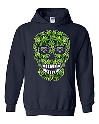 Artix Skull Pot Green Diamond Eyes Unisex Hoodie Sweatshirts