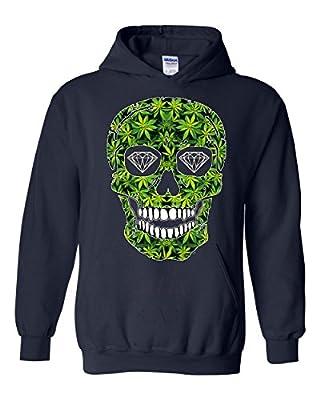 Artix Skull Pot Green Diamond Eyes Unisex Hoodie Sweatshirts
