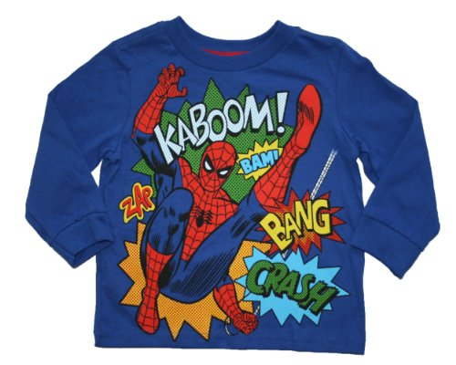 Spiderman Toddler Boys 2T-5T Long Sleeve T Shirt (4T) front-924546