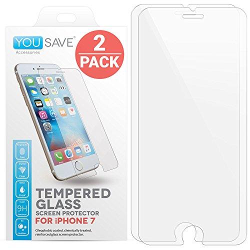 Yousave-Accessories-iPhone-7-2-Pacchetto-Pellicola-Protettiva-Trasparente-In-Vetro-Temperato-Ultra-Sottile-03-mm-Indice-Di-Resistenza-9H-Doppio-Pacco