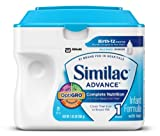 Similac Advance Infant Formula, Powder, 23.2-Ounces (Pack of 6) (Packaging May Vary)